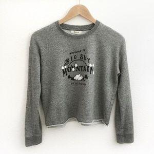 Madewell l Big Sky Cutoff Sweatshirt